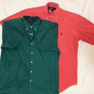Vintage Ralph Lauren Plaid Dress Shirts (2)